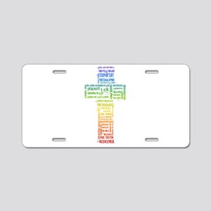 Names of Jesus Cross Aluminum License Plate